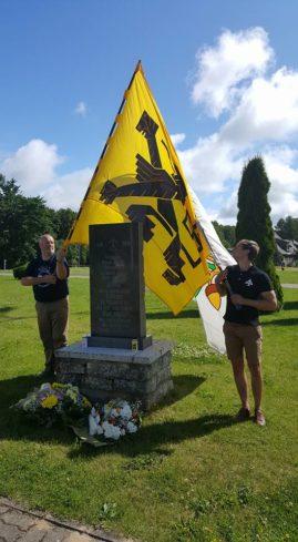 Austusavaldus tuhandetele Sinimägede lahingutes hukkunud flaamlastele